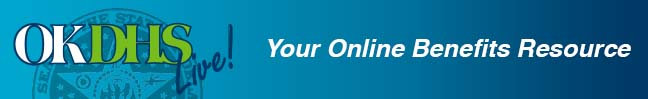 Oklahoma Department of Human Services OKDHS Live Logo  Your Online Benefits Resource